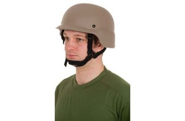 United Shield PASGT Ballistic Helmet Level IIIA w/ 4pt Harness System, Tan, XL PASGT-IIIA-TN-XL