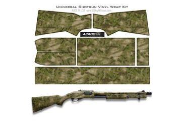 US Night Vision A-TACS Camo Pre-Cut Universal Shotgun Skin Vinyl Wrap, 20x30in, A-TACS Camo FG 116521