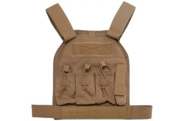 US Palm AR-15 Defender Soft Armor Plate Carrier With One Level IIIA Soft Armor Panel Large/Standard 10x12.5 Inch Panel Coyote Tan
