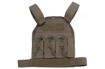 US Palm AR-15 Defender Soft Armor Plate Carrier With One Level IIIA Soft Armor Panel Large/Standard 10x12.5 Inch Panel Ranger Green