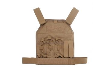 US Palm AR-15 Defender Soft Armor Plate Carrier With Two Level IIIA Soft Armor Panels X-Large 11 X 13.5 Inch Panel Maximum Waist 60 Inches Coyote Tan