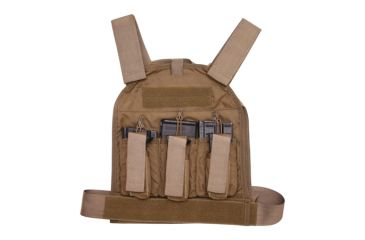 US Palm Defender 308 Soft Armor Plate Carrier With One Level IIIA Soft Armor Panel X-Large 11 X 13.5 Inch Panel Maximum Waist 60 Inches Black