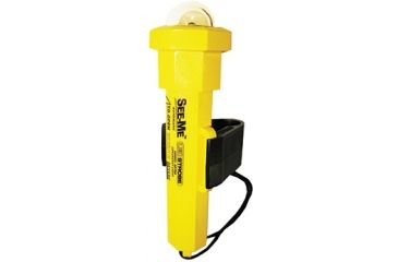 UST Marine See-Me Strobe Water-Activated Flashlight, Yellow, 2 AA 85-4075A-CRD
