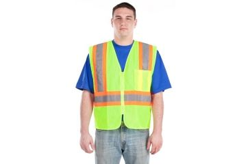 Utility ProWear High Visibility Mesh Vest with Contrast Stripes Class 2, Orange, LARGE UHV315-L-O