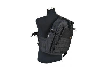 J-Tech Gear City Ranger Single Sling Backpack, Black PA01-2300-00 BK