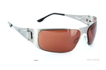VedaloHD Lombardy Sunglasses - Silver Frame, Copper Rose Lenses 8080