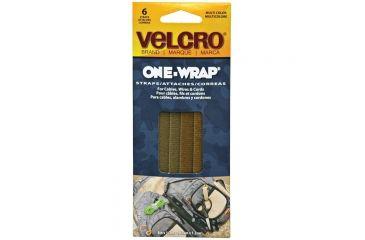 Velcro One-wrap 8'' X 1/2'' Assort 6pk 91747