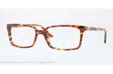 Versace CHARLTON VE3174 Single Vision Prescription Eyeglasses 5003-53 - Red Striped Honey Transp Frame, Demo Lens Lenses