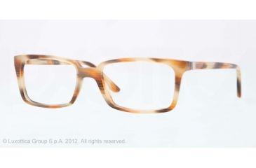 Versace CHARLTON VE3174 Single Vision Prescription Eyeglasses 5046-53 - Hazelnut Striped Red Frame, Demo Lens Lenses