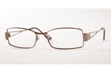 Versace VE 1117B Eyeglasses, Brown Frame w/NonRx 51 mm Diameter Lenses, 1013 5117