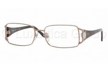 fb2651c14bc3d Versace VE1142B SV Prescription Eyeglasses Light Brown Frame   51 mm  Prescription Lenses