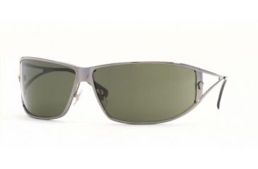 Versace VE 2040 Sunglasses Styles Gunmetal Frame / Green Lenses, 100171-7409