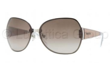 Versace VE 2106 Sunglasses Styles Silver Frame / Brown Gradient Lenses, 100013-6413