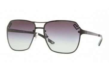 Versace VE 2114 Sunglasses Styles - Matte Black Gray Gradient Frame, 126111-6014