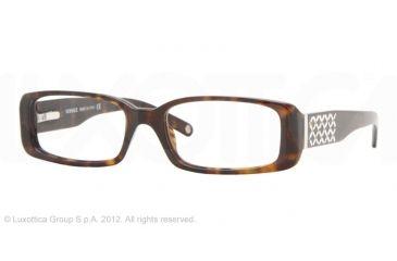 Versace VE 3107B Eyeglasses Styles Dark Havana Frame w/Non-Rx 52 mm Diameter Lenses, 108-5216