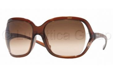 Versace VE 4114 Sunglasses Styles Light Brown Frame / Brown Gradient Lenses, 101-13-5916