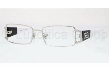 Versace VE1163B Progressive Prescription Eyeglasses 1000-5016 - Silver Frame