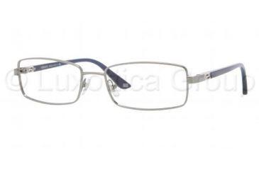Versace VE1204 Single Vision Prescription Eyeglasses 1001-5417 - Gunmetal Frame