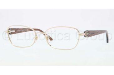 Versace VE1210 Single Vision Prescription Eyeglasses 1327-5416 - Pale Gold Frame