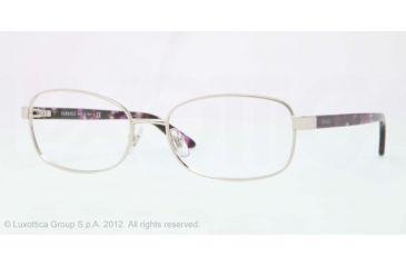 Versace VE1213 Eyeglass Frames 1000-53 - Silver Frame, Demo Lens Lenses