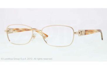 Versace VE1216B Eyeglass Frames 1252-52 - Pale Gold Frame, Demo Lens Lenses
