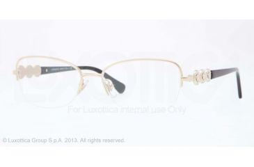 Versace VE1217B Bifocal Prescription Eyeglasses 1252-52 - Pale Gold Frame