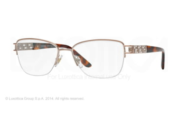 Versace VE1220B Single Vision Prescription Eyeglasses 1052-52 - Copper Frame