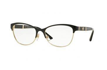 ac40245a4e Versace VE1233Q Eyeglass Frames 1366-53 - Black pale Gold Frame