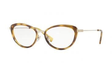 dfc2f61026ee Versace VE1244 Progressive Prescription Eyeglasses 1400-53 - Pale Gold    Havana Frame