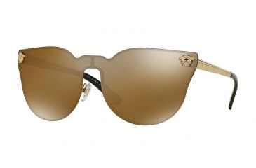 8f6a552e7819 Versace VE2120 Sunglasses 1002F9-43 - Gold Frame, Brown Mirror Gold Lenses