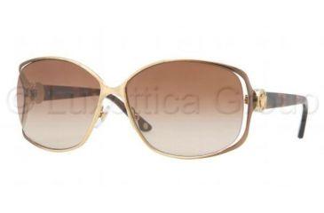 Versace VE2125B Sunglasses 130913-6014 - Brown Gold Frame, Brown Gradient Lenses