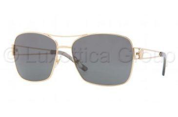 Versace VE2138 Sunglasses 100287-5916 - Gold Frame, Gray Lenses