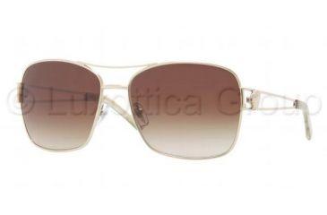 Versace VE2138 Sunglasses 125213-5916 - Pale Gold Frame, Brown Gradient Lenses