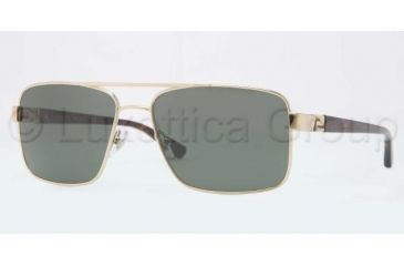 Versace VE2141 Sunglasses 125252-5816 - Pale Gold Frame, Crystal Green Lenses