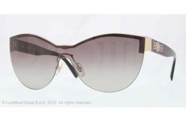 Versace VE2144 Single Vision Prescription Sunglasses VE2144-125211-40 - Lens Diameter 140 mm, Lens Diameter 40 mm, Frame Color Pale Gold