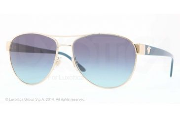 Versace VE2145 Bifocal Prescription Sunglasses VE2145-12524S-58 - Lens Diameter 58 mm, Frame Color Pale Gold