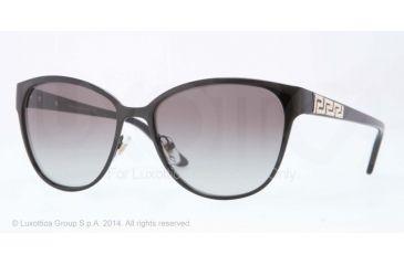 Versace VE2147B Sunglasses 100911-56 - Black Frame, Gray Gradient Lenses