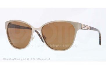 Versace VE2147B Sunglasses 133873-56 - Brushed Light Brown Frame, Brown Lenses