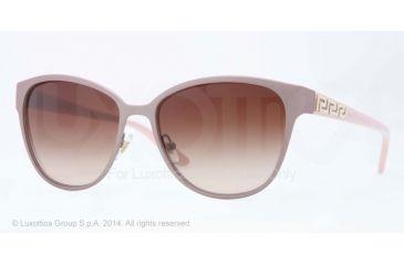 Versace VE2147B Sunglasses 134013-56 - Matte Antique Pink Frame, Brown Gradient Lenses