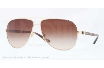 Versace VE2151 Sunglasses 125213-62 - Pale Gold Frame, Brown Gradient Lenses