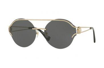 9f8fd4bbefc5d Versace VE2184 Sunglasses 125287-61 - Pale Gold Frame