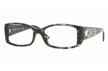 Versace VE3139B #883 - Black Spotted Crystal Demo Lens Frame