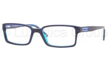 Versace VE3142 Progressive Prescription Eyeglasses 904-5217 - Blue/Transparent Blue