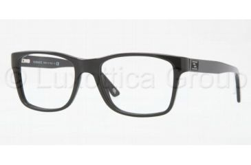 Versace VE3151 Eyeglass Frames GB1-5218 - Shiny Black Frame