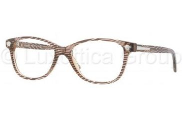 Versace VE3153 Progressive Prescription Eyeglasses 934-5316 - Wave On Brown Frame