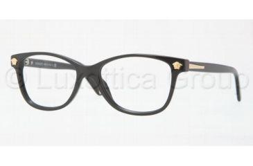 Versace VE3153 Single Vision Prescription Eyewear 945-5116 - Shiny Black