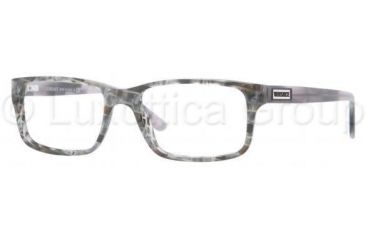 Versace VE3154 Bifocal Prescription Eyeglasses 939-5217 - Striped Gray Demo Lens Frame
