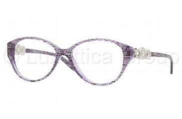 Versace VE3161 Single Vision Prescription Eyeglasses 5000-5115 - Dark Steel Frame