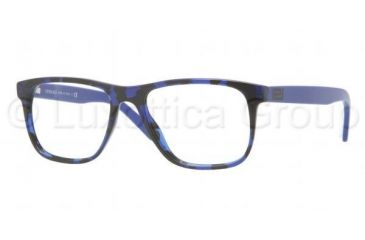 Versace VE3162 Progressive Prescription Eyeglasses 980-5217 - Blue Havana Frame, Demo Lens Lenses