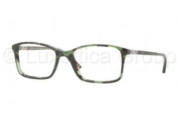 Versace VE3163 Single Vision Prescription Eyeglasses 993-5217 - Green Havana Frame